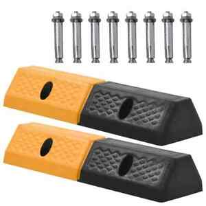 vidaXL-2x-Parkeerblok-Rubber-Parkeren-Blok-Beschermblok-Parkeerstopper-Balk