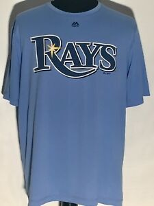 58fbedbc Details about Tampa Bay Rays MLB Baseball Team Majestic Evolution Cool Base  Blue Size XL Shirt