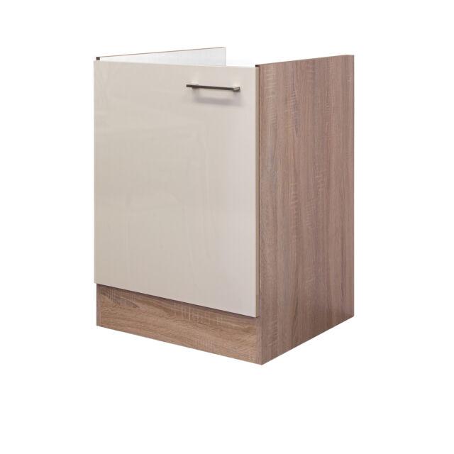 Spülenunterschrank Spülenschrank Spülschrank Küchenspüle ohne Becken creme beige