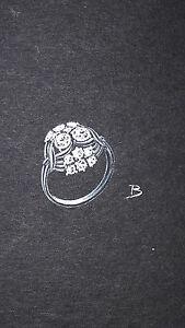 DESPRES Dessin original GOUACHE bague diamants entrelacs BIJOU ART DECO 1930 8vWK27WB-08035544-275259100