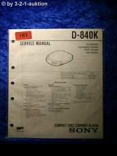 Sony Service Manual D 840K CD Player (#0161)