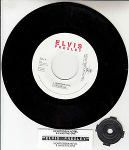 ELVIS-PRESLEY-Heartbreak-Hotel-amp-I-Was-The-One-EP-7-034-45-rpm-NEW-juke-box-strip