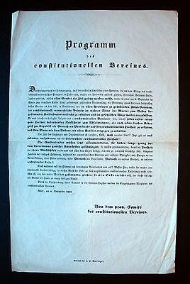 Plakat Wiener Revolution Wien 1848 Programm Des Constitutionellen Vereines (12