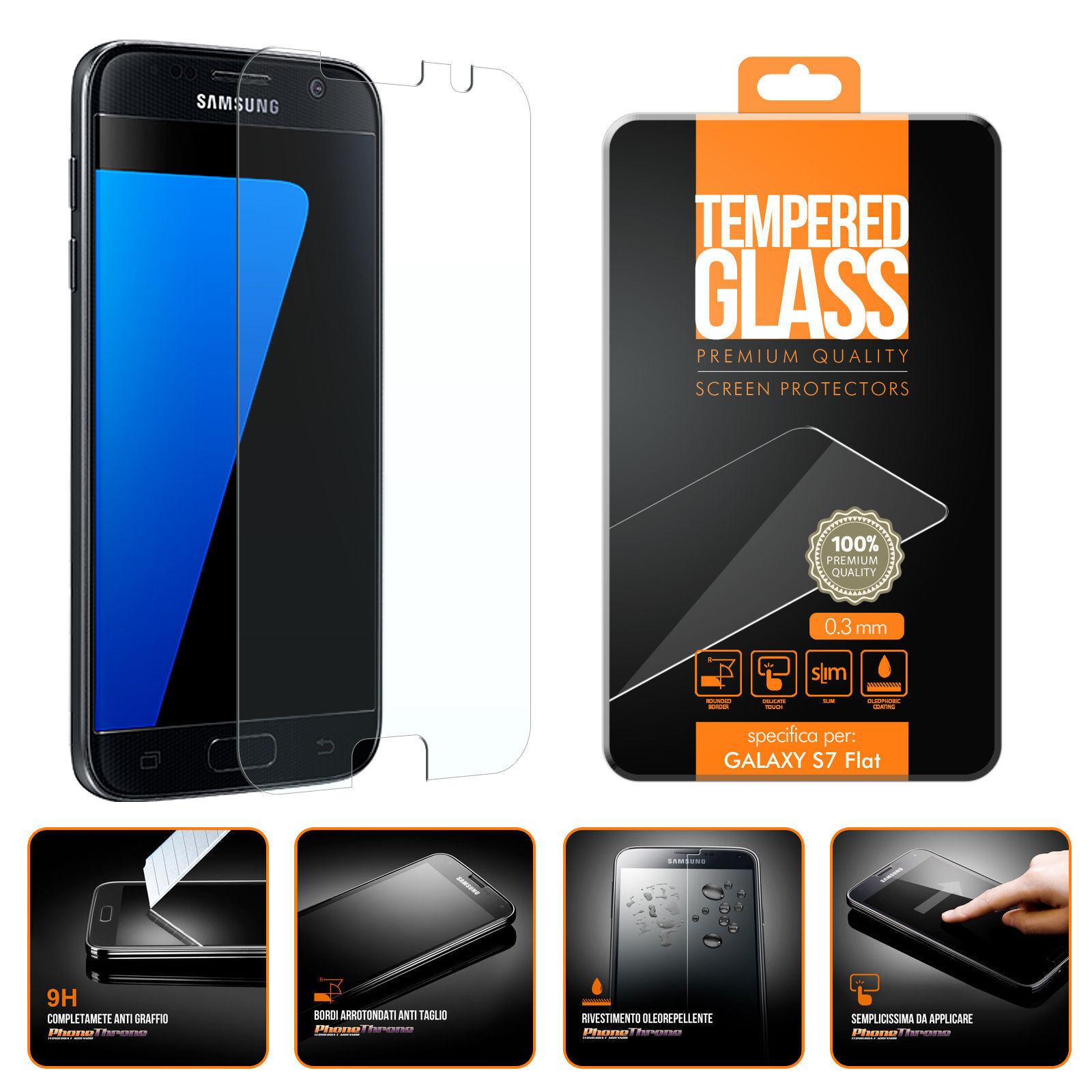 Samsung Galaxy: Pellicola Vetro Temperato per Samsung Galaxy S7/S6//A5/A3/A6/A7/J3/J5/J7/2017