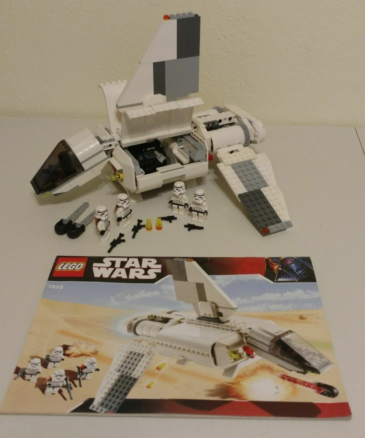 Lego 7659 Star Wars Imperial Landing Craft complet à 100 % Notice de 2007 CNG11