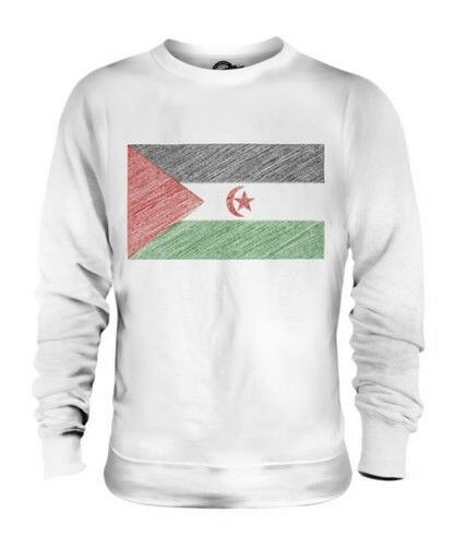 WESTERN SAHARA SCRIBBLE FLAG UNISEX SWEATER TOP GIFT FOOTBALL SHIRT