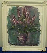 "Norddeutsche Künstler:Johann Müller - Emden: ""Blume in Lila"" 1992, Ölgemälde"