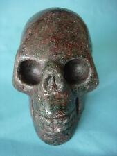 Crystal Skull red-green garnet large size