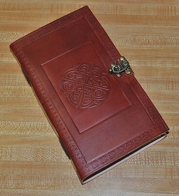 Handmade Celtic Tooled Leather Blank Journal Diary Sketch Notebook Book (574)