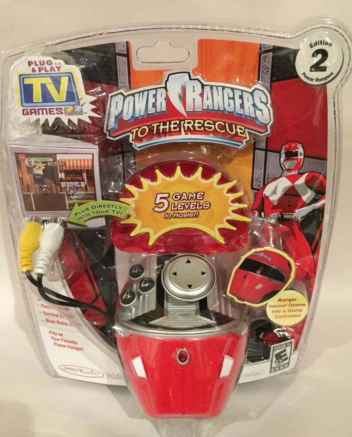Rare Power Rangers to The Rescue Plug And Play TV game 5 level video game. New