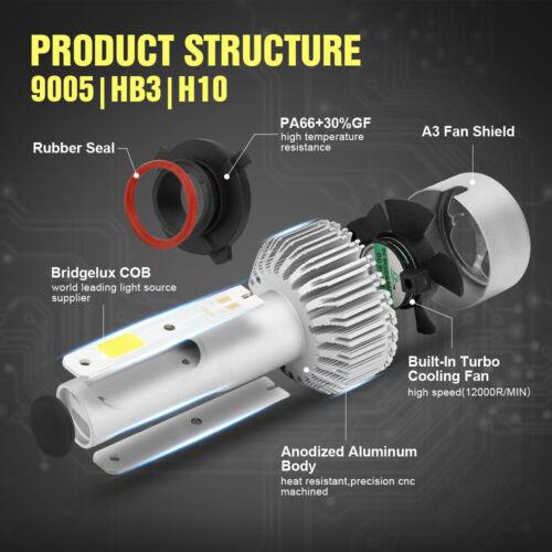 9005 9006 Combo LED Headlight Kit for Chevy Silverado Tahoe 1999-2006 Hi//Lo Beam