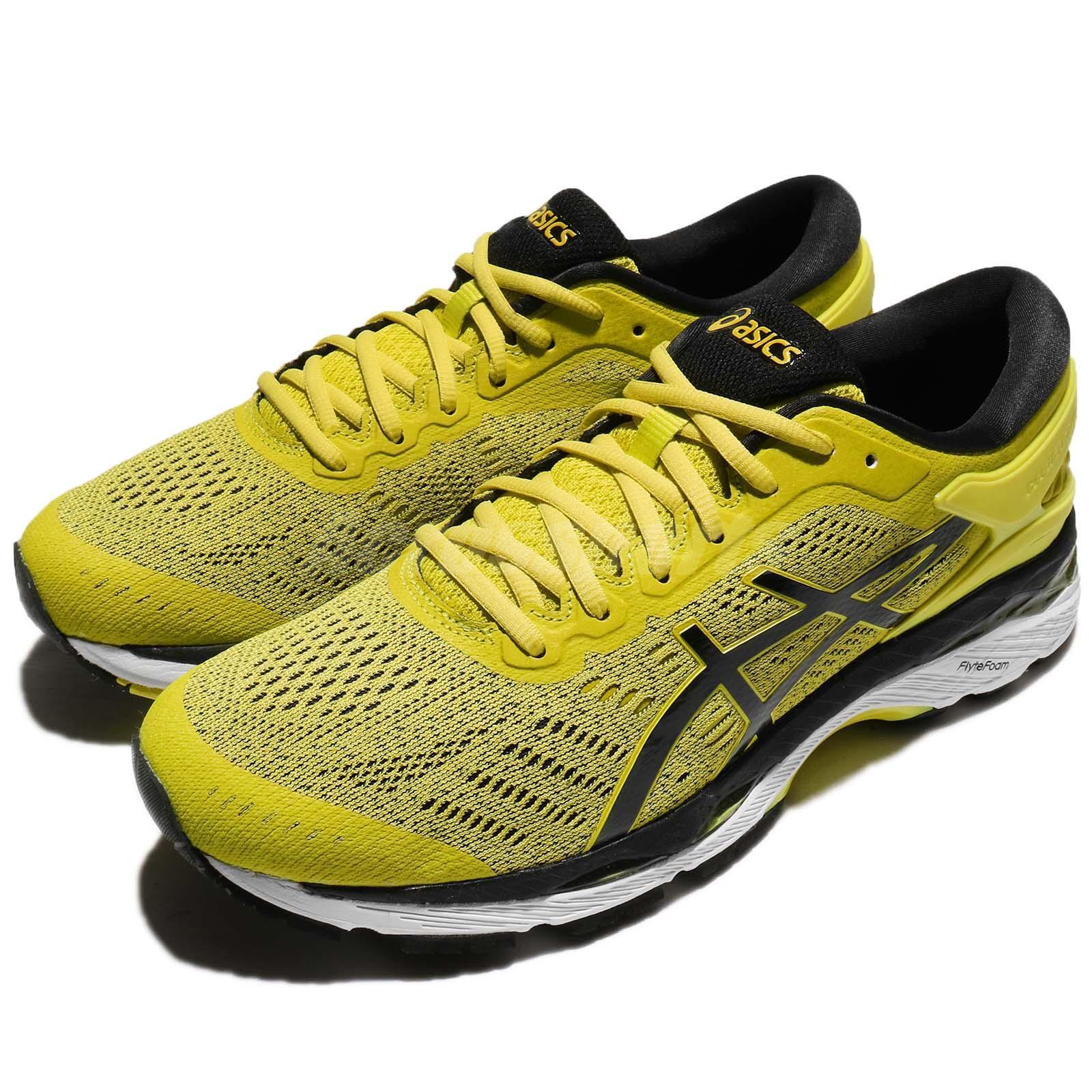Asics Gel-Kayano 24 azufre amarillo negro zapatos de entrenamiento para hombres T749N-8990