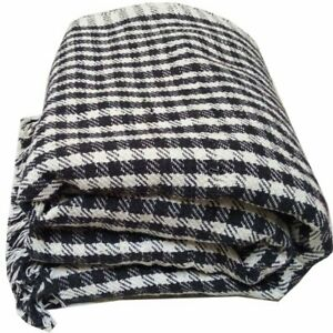 Handloom Single Black and White Khes, Blanket, Comforter,(1 Pc in Pack)