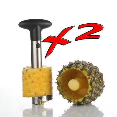 2 New Silver Stainless Steel Pineapple De-Corer Peeler Stem Remover Blades