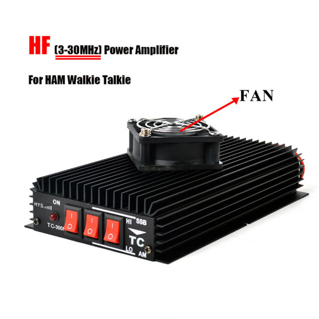 New Hys Ham Hf Power Amp Amplifier 3 30mhz With Fan For Handheld Two Way Radio Ebay