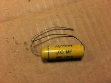 NOS Vintage Astron .03 uf 600v Mustard Capacitor Guitar Amp Tone Cap qty avail