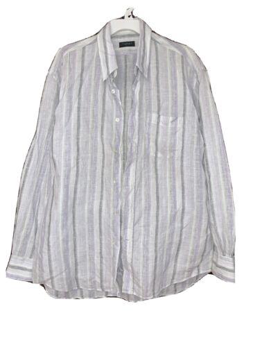 Canali  Striped Men's Linen Shirt  XL  Italy