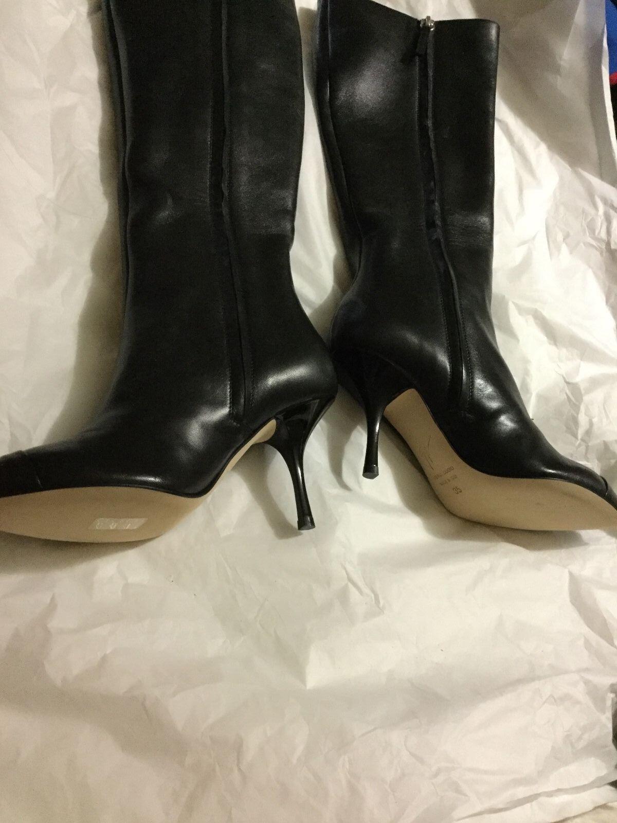 l'ultimo NEW Giuseppe Zanotti donna nero Knee-High stivali - - - EU 35  autorizzazione ufficiale