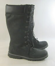 TIMBERLAND WINTER Blacks LEATHER MID-CALF BOOT  US WO'S SIZE  8- YOUTH SIZE  6