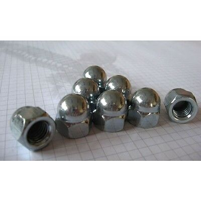 M6 8 10 12 Metric Hexagon Dome Nuts DIN1587 Zinc Plated, Standard Metric Threads