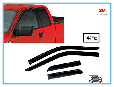 2015,2016,2017  FORD F150 SUPERCAB SIDE WINDOW DEFLECTORS VENT SHADES SMOKED