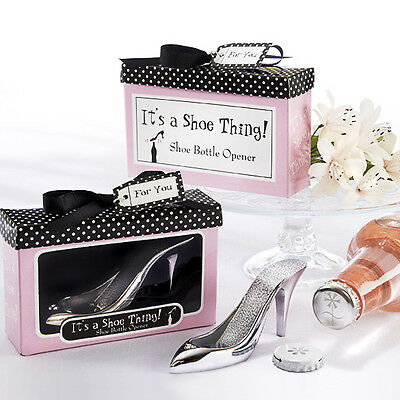 High Heel Shoe Style Bottle Opener Wedding Favor Bridal Shower Personalised NEW