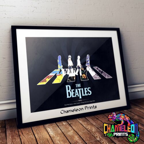 The Beatles Album Covers Art Print In A3 A4 Abbey Road