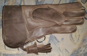 New-Falconry-Glove-Double-Skinned-Nubuck-Leather-12-034-Long-2-Layer-Copper-Brown