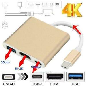 3-in1-Multiport-Adapter-fuer-USB-3-1-Typ-C-auf-HDMI-USB-Typ-C-3-0-fuer-Ma-S6I6