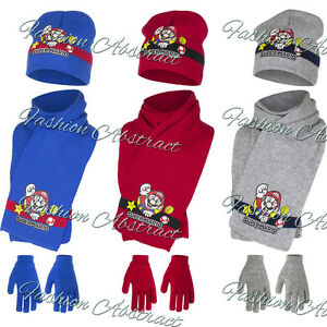 NEW-BOYS-OFFICIALLY-LICENSED-SUPER-MARIO-WINTER-HAT-WITH-GLOVES-amp-SCARF