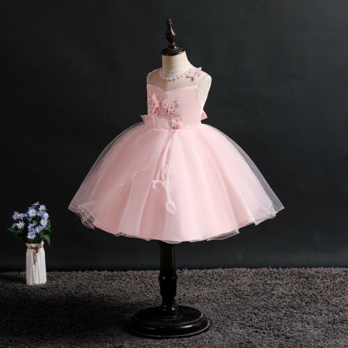 Kids Flower Girl Lace Princess Dress for Girls Party Wedding Bridesmaid Dresses