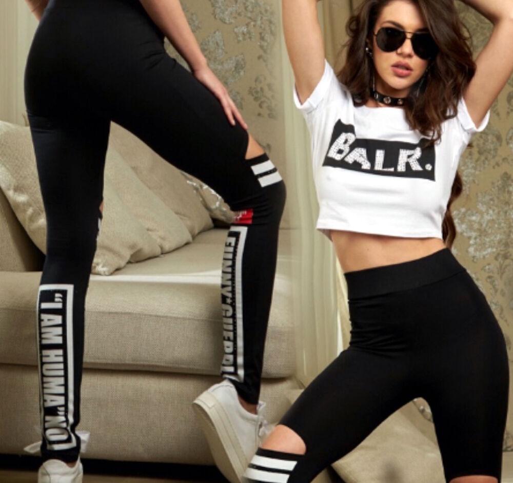 By Alina Mexton 2-diviseur T-shirt Femmes Anneau Leggings Cut-out Fitness Xs 34