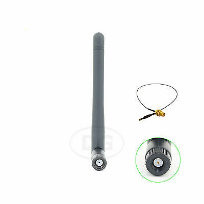 9dBi RP-SMA WiFi Antenna+12in U.fl Cable For Wireless WiFi Routers Netgear R6100
