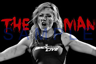 BECKY LYNCH 12x18 WWE THE MAN POSTER WOMENS CHAMP SMACKDOWN RONDA ROUSEY BLOOD 3