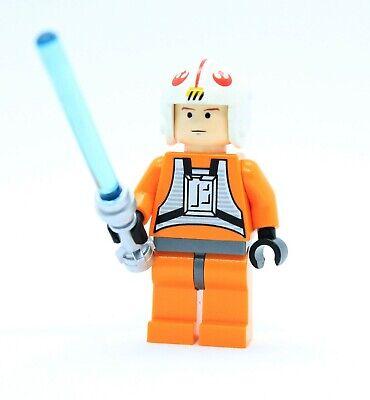 LEGO LUKE SKYWALKER REBEL PILOT chrome lightsaber minifigure STAR WARS 6212