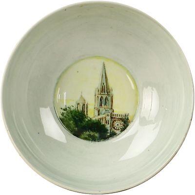 Spencer Edge Hand Painted Oxford Cathedral Vintage Souvenir Sugar Bowl c1900
