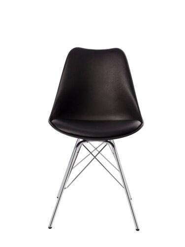 2er Set Esszimmerstuhl Stuhl Vintage Design Retro Kunststoff Metall Farbauswahl