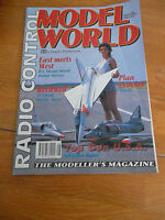 RADIO CONTROL MODEL WORLD MAGAZINE AUG 1992 ST G4500 ELECTRIC HERON COYOTE