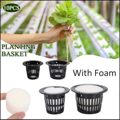 Net Pot Mesh Flex Pot Net Cup Aeroponic Grow Basket Hydroponic  Cloning