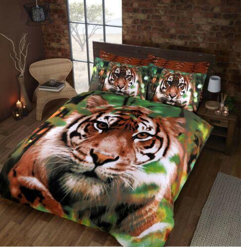 NEW LUXURY 3D PANEL PRINT DUVET QUILT COVER SET WITH PILLOW CASES BEDDING