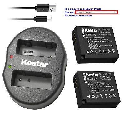 Batería USB Cargador Doble Para Panasonic DMW-BLE9E DMW-BLG10 Lumix DMC-GX85