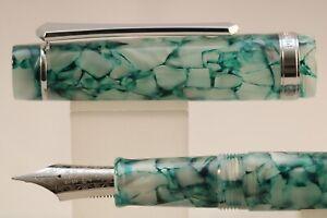 PenBBS No 308 Sherry Acrylic Fine Fountain Pen with Chrome Trim