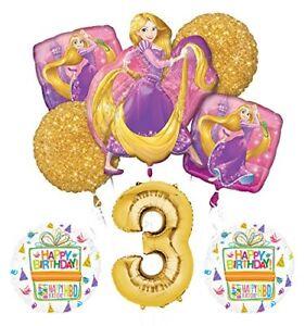 NEW-Tangled-Rapunzel-Disney-Princess-3rd-BIRTHDAY-PARTY-Balloon