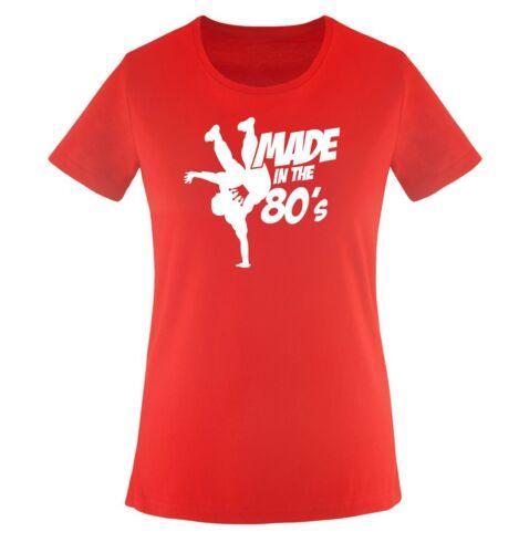 XS bis XXL Diverse Farben Made in the 80s Damen Frauen T-Shirt Gr Einfarbig