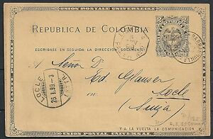 Colombia 1899 PC Barranquilla to Loccle Pacquebot