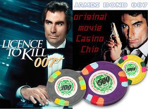 JAMES-BOND-Original-LICENCE-TO-KILL-Casino-Chip-Casino-De-Ithmus-City