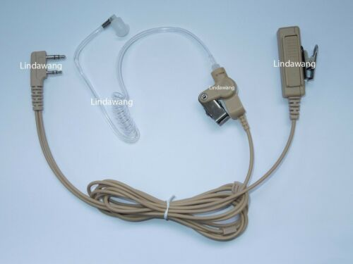 Beige Surveillance Acoustic Tube Headset Earpiece for Kenwood Portable Radio
