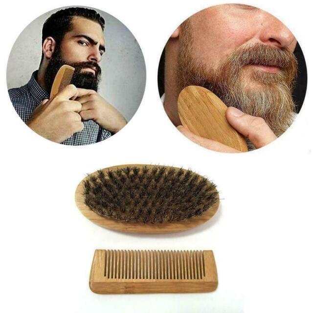Beard Grooming & Trimming Kit For Men Care Beard Mustache Gift Brush Comb S7U2
