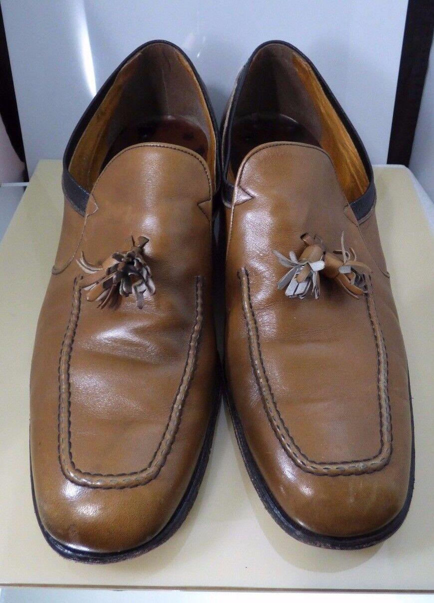 la migliore moda Vintage Freeman Uomo Uomo Uomo scarpe Loafer Slip On Tan Marrone Two Toned Tassel  Dimensione 10 D  prezzi più bassi