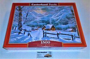 Puzzle 1500 Teile - Snowy Morning - C-151905-2 Neu 68 x 47 cm Neu